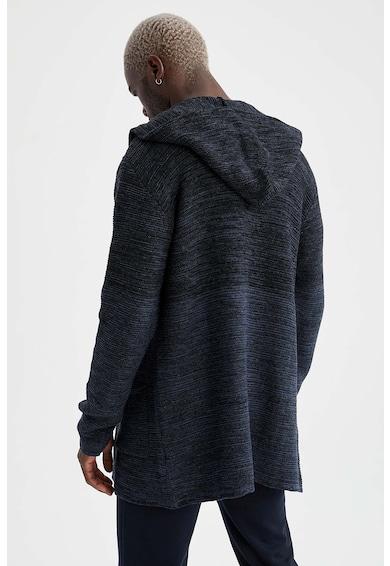 DeFacto Cardigan tricotat cu gluga si buzunare Barbati