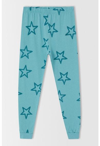 DeFacto Pijama cu pantaloni lungi si imprimeu cu stele Baieti
