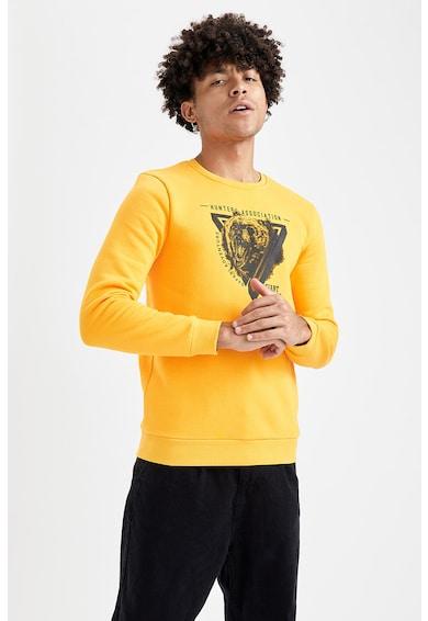 DeFacto Bluza sport cu decolteu la baza gatului si imprimeu Barbati