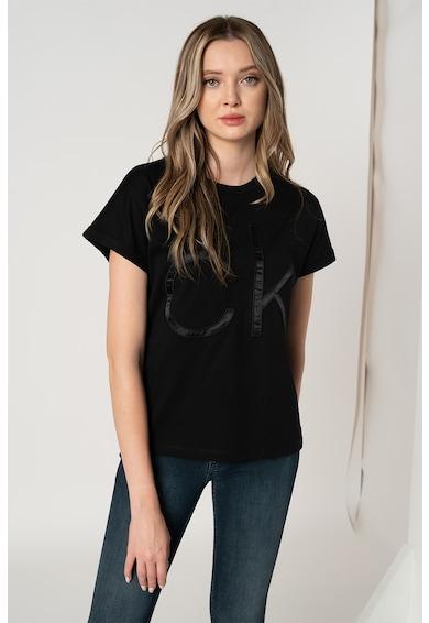 CALVIN KLEIN Tricou de bumbac organic cu logo supradimensionat Femei