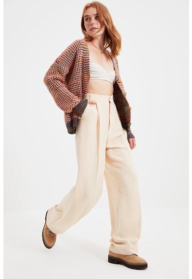 Trendyol Cardigan lejer cu model colorblock Femei
