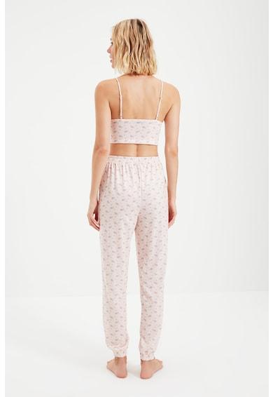 Trendyol Pijama din bumbac cu imprimeu Femei