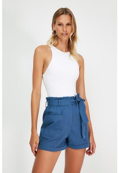 Trendyol Pantaloni scurti cu talie inalta si cordon Femei