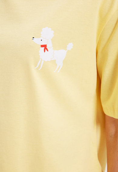 Trendyol Pijama cu imprimeu si decolteu la baza gatului Femei