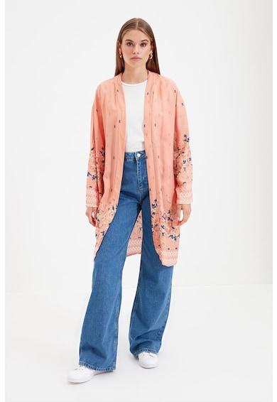 Trendyol Kimono din viscoza cu imprimeu Femei