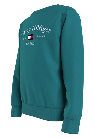 Tommy Hilfiger Bluza sport de bumbac organic cu imprimeu logo Baieti
