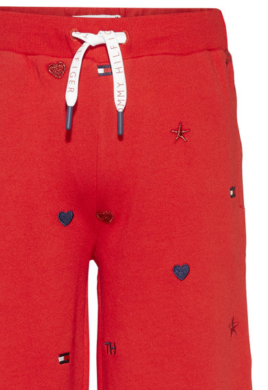 Tommy Hilfiger Pantaloni sport de bumbac organic cu croiala ampla Fete