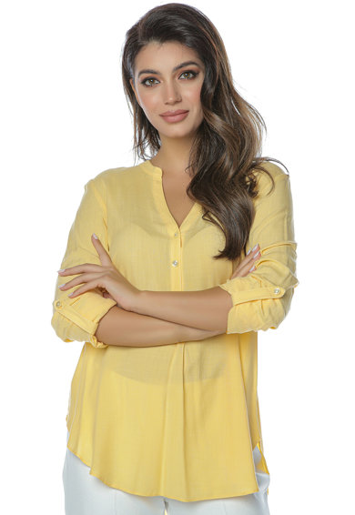 Miss One Camasa tunica cu terminatie asimetrica Femei