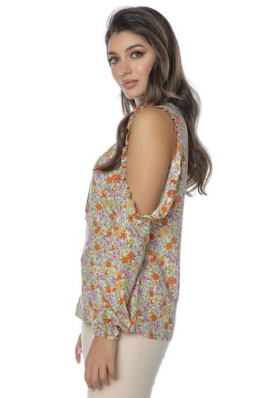 Miss One Bluza cu imprimeu si decupaje Femei