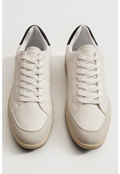 Mango Fasano műbőr sneaker kontrasztos részletekkel férfi