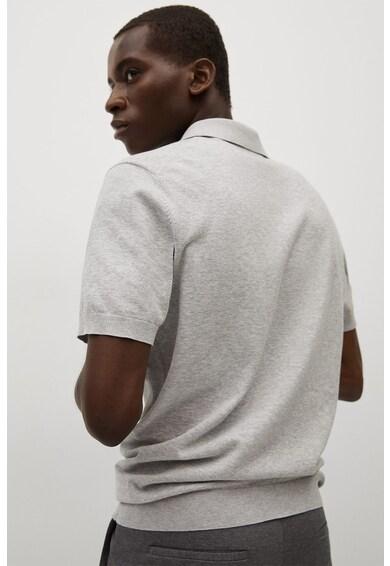 Mango Technop galléros kötött pamutpóló férfi