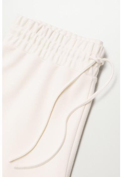 Mango Pantaloni sport conici din material pique Femei