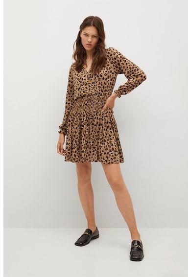 Mango Moss bővülő fazonú mintás ruha női