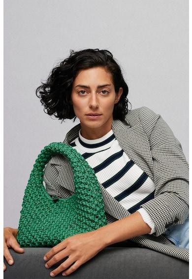 Mango Geanta de mana cu model impletit Calella Femei