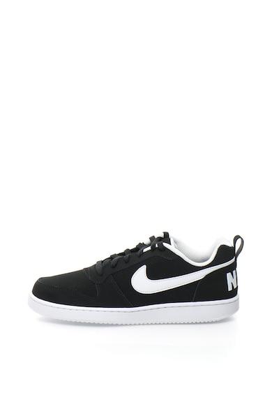 Nike Pantofi sport de piele intoarsa cu perforatii Court Borough Barbati