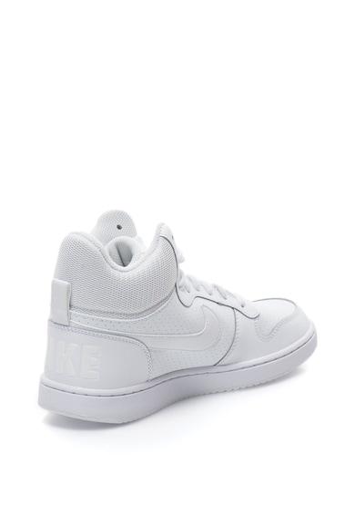 Nike Pantofi sport mid-high cu garnituri de piele peliculizata Court Borough Barbati