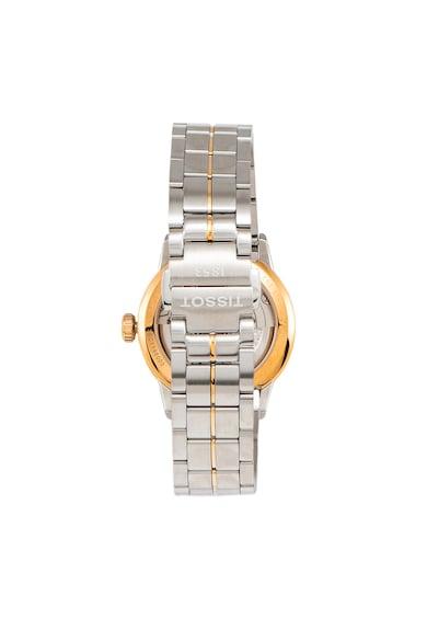 Tissot Ceas automatic argintiu cu auriu rose Luxury Femei
