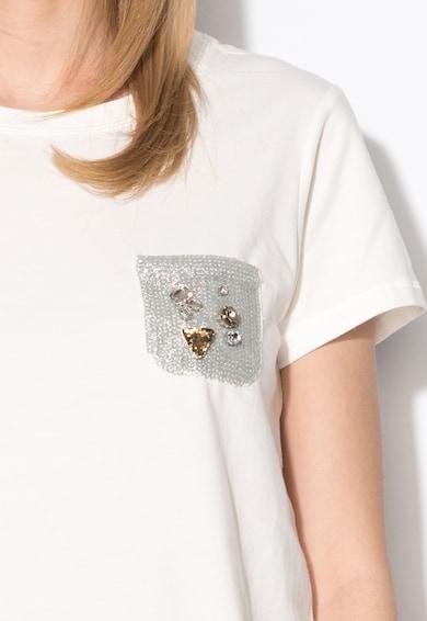Silvian Heach Denim Бяла тениска с брокат Жени