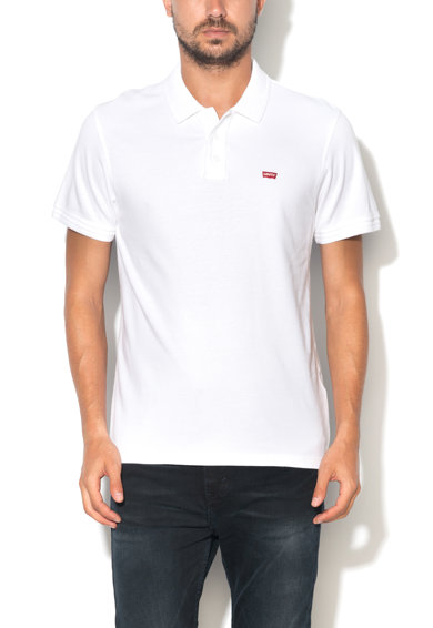 Levi's Бяла тениска с яка и лого Мъже