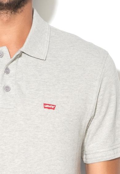 Levi's Светлосива тениска с яка и лого Мъже