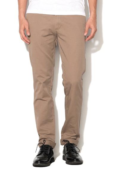 United Colors of Benetton Pantaloni chino slim fit maro nisip Barbati