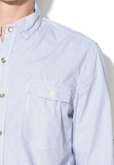 Alcott Раирана риза с фигурален десен на гърба Мъже