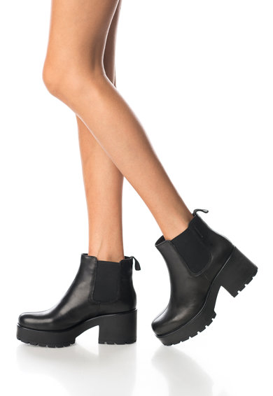 Vagabond Shoemakers Черни кожени боти Chelsea Жени