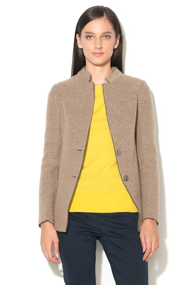 United Colors of Benetton Jacheta taupe din amestec de lana Femei