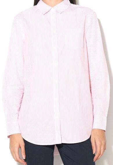 United Colors of Benetton Camasa in dungi roz si albe Femei