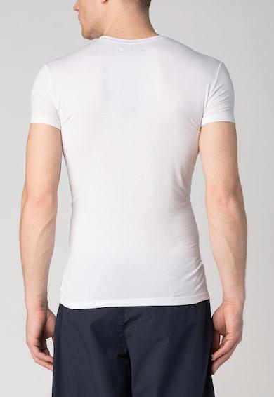Emporio Armani Underwear Бяла тениска с овално деколте Мъже