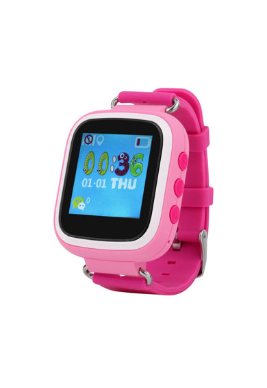 iUni Ceas Smartwatch copii  Kid90, Telefon incorporat, GPS, Buton SOS Femei