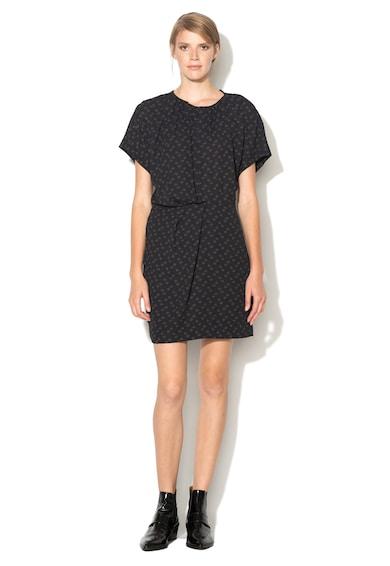 IKKS Тъмносиня рокля с фигурален десен Жени