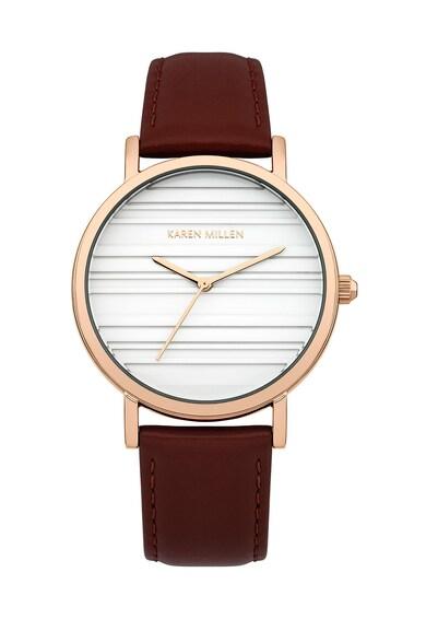 Karen Millen Тъмновиолетов часовник с кожена каишка Жени