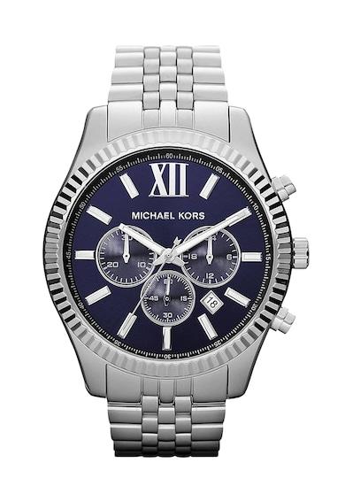 Michael Kors Мъжки часовник  Lexington, Хронограф, Сребрист,  Мъже