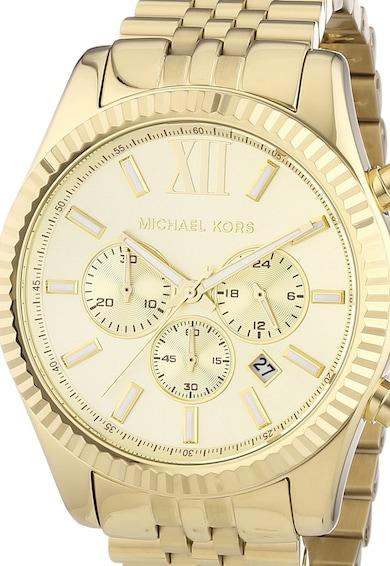 Michael Kors Мъжки часовник  Lexington, Хронограф, Златист,  Мъже