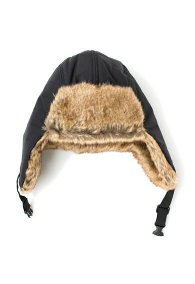 Timberland Caciula neagra cu clape si garnituri de blana sintetica Barbati