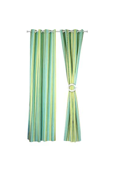 Heinner Home két darabos függöny készlet, pamut, 140 x 270 cm, Zöld csíkos férfi