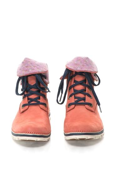 Timberland Червено-оранжеви боти от набук Жени