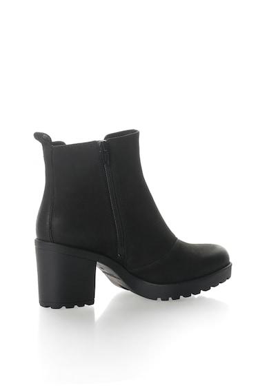 Vagabond Shoemakers Черни кожени боти с масивен ток Жени