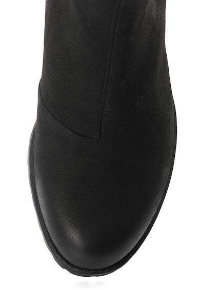 Vagabond Shoemakers Botine negre de piele cu aspect masiv Grace Femei