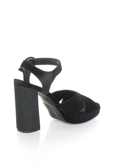Zee Lane Sandale negre catifelate Femei