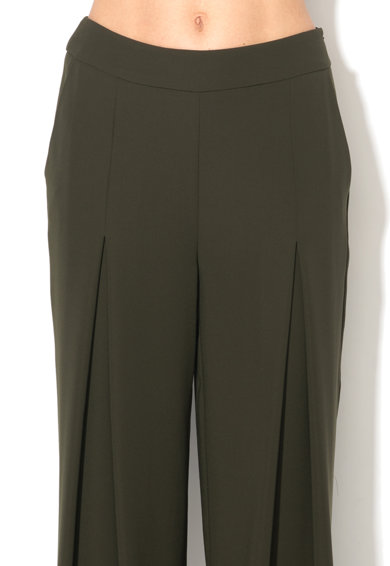 Ipekyol Pantaloni verde feriga cu pliuri inversate Femei