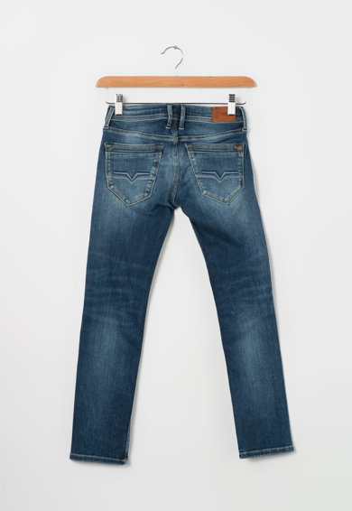 Pepe Jeans London Fiú Cashed Normál Fazonú Kék Farmernadrág  Fiú