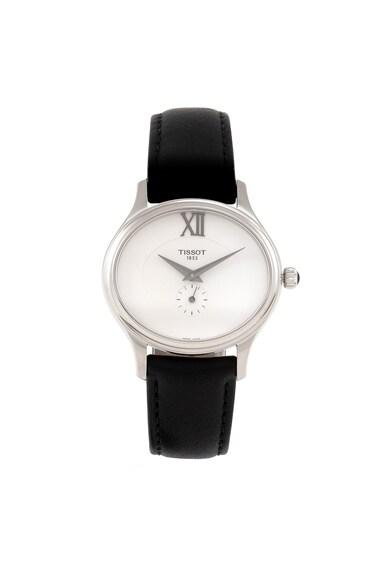 Tissot Сребрист часовник Bella Ora с кожена каишка Жени
