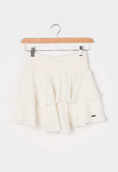 Pepe Jeans London Fusta alb murdar cu aspect stratificat Fifi Fete