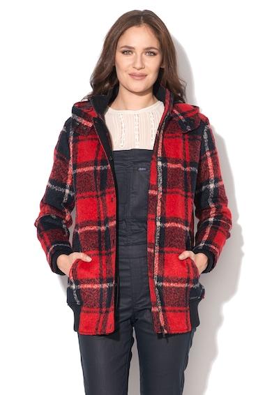 Pepe Jeans London Карирано яке в червено и черно с качулка Жени