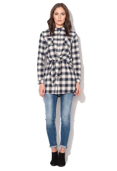 Pepe Jeans London Рокля тип риза в мръснобяло и тъмносиньо Жени