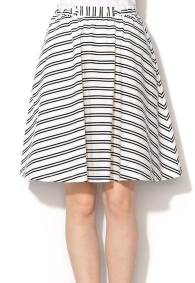 Pepe Jeans London Разкроена пола на райе в бяло и тъмносиньо Жени