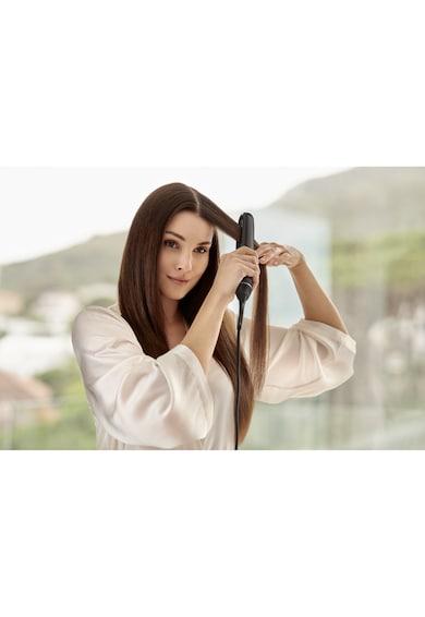 Philips Преса за коса  Straight Care BHS677/00, 14 Нива темпратура, 230 градуса, Гъвкави плочи XL 105мм, Черна Жени