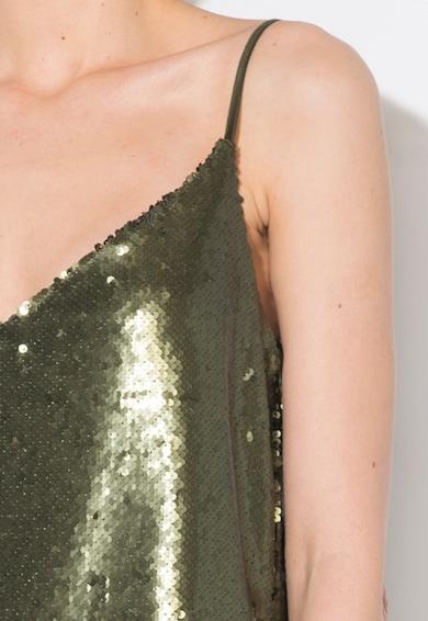 Zee Lane Collection Rochie verde militar cu paiete mate Femei